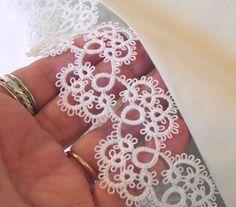 Tatted Lace con bordes fundas para almohadas por LaceAmour en Etsy