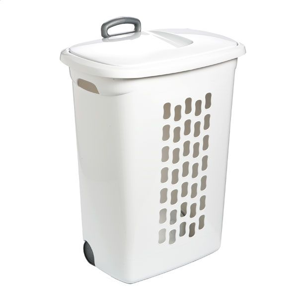 Hamper With Wheels The Container Store In 2019 Laundry