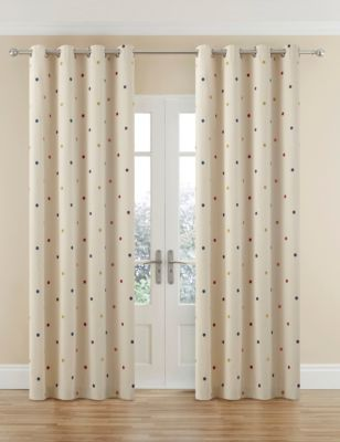 Spotty m&s curtains