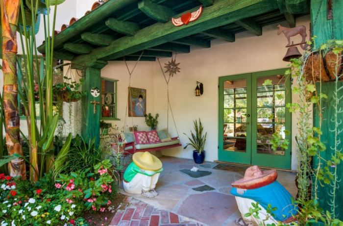 Annie Potts Spanish Hacienda-Style Home In Tarzana, Los Angeles, California