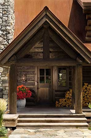 : Log Homes, Entry Way, Logs Cabin Homes, Log Cabins, Precisioncraft Logs, Timber Homes, Homes Entrance, Logs Homes, Front Porches