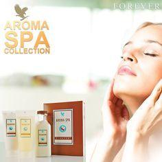 forever living products aroma spa collection - Aroma Spa Collection. Een luxe driedelige aromatherapie set voor een spa ervaring in uw eigen huis. Verwen uw lichaam met kwalitatief hoogwaardige ingrediënten waaronder aloë vera, lavendel, witte thee en essentiële oliën. De producten zijn ook afzonderlijk verkrijgbaar. Aroma Spa Collection bevat; Relaxation Bath Salts (286) Relaxation Shower Gel (287) Relaxation Massage Lotion ( 288)