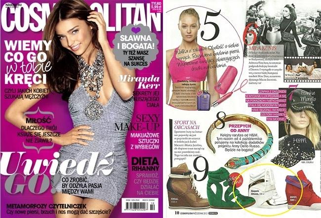 Cosmopolitan October 2012  www.sequinshoes.pl