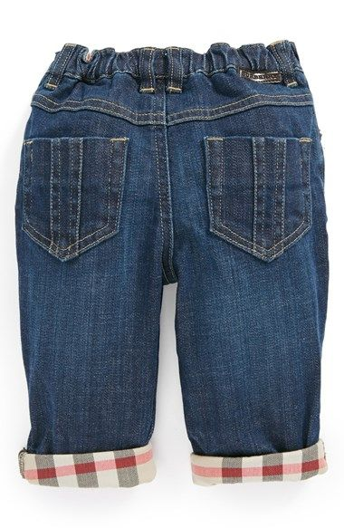 Burberry Check Lined Jeans (Baby Boys) available at #Nordstrom