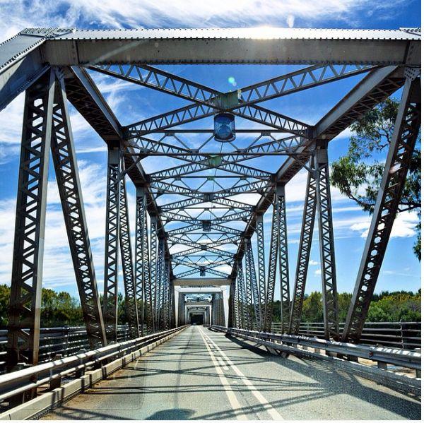 General Hertzog Bridge over Orange River in Aliwal