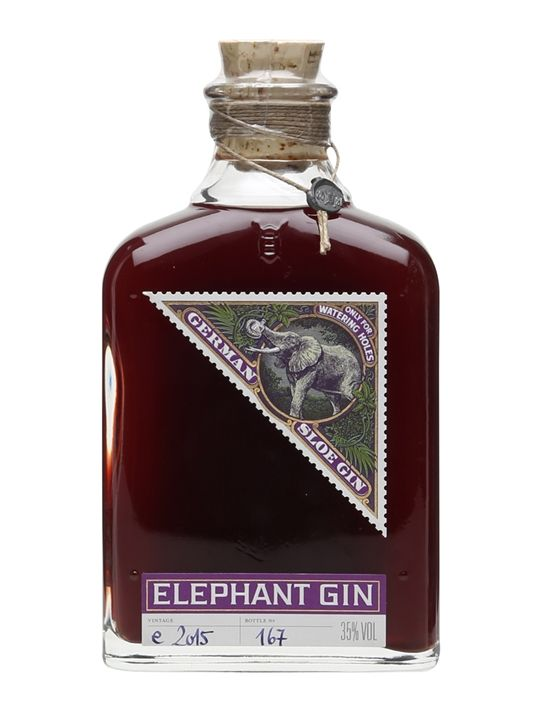 To make this German sloe gin, real sloe berries are macerated in Elephant London…