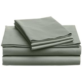 California King size 400 Thread Count Cotton Sheet Set in Sage Green | Top Home Decor Expo