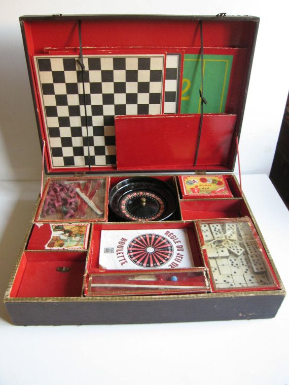 antique 1900's French game case on Etsy, £214.81
