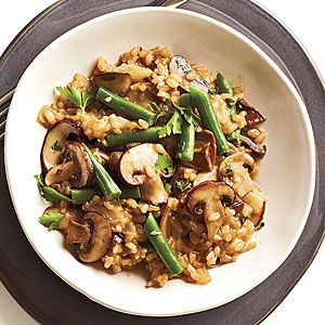 Mushroom Brown Rice Risotto - made this last night. Pretty great! Not as trying-too-hard-to-be-healthy as it sounds.
