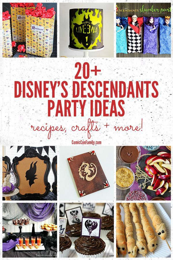 Planning a Disney's Descendants party? We have all the best Disney Descendants party ideas right here! Recipes, crafts, tablescapes, printables, and more!