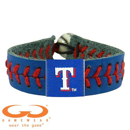 Texas Rangers Team Color Seam Bracelet by GameWear