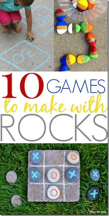 10 Rock Games for Kids - So many clever summer activities for kids using rocks!