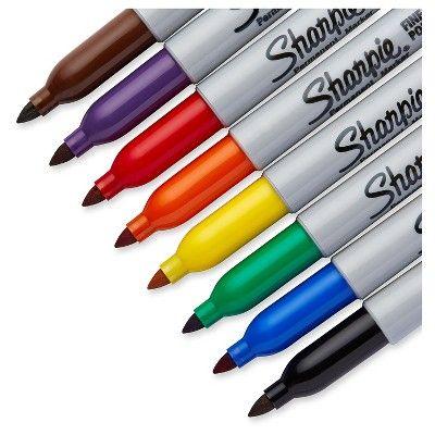 Sharpie Permanent Marker, Fine Tip, 10ct - Multicolor Ink