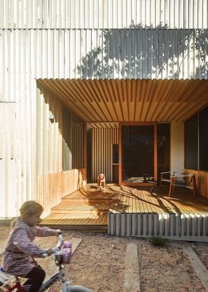 The use of natural timber gives the project the beach house vibe the owners were after.