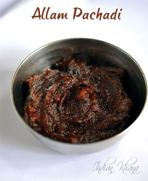 Allam Pachadi Recipe | Ginger Chutney (for Idli, Dosa) ~Allam Pachadi is one of the most famous recipe from Andhra, it can be served as a chutney as pickle.  Allam pachadi is synonyms with Pesarattu another Andhra delicacy but it also goes well with idli, dosa, paratha, pakoda etc.  Allam means ginger and pachadi means chutney in Telugu so this chutney is made with ginger, tamarind, red chilli as main ingredients ). - Gluten Free, Vegan