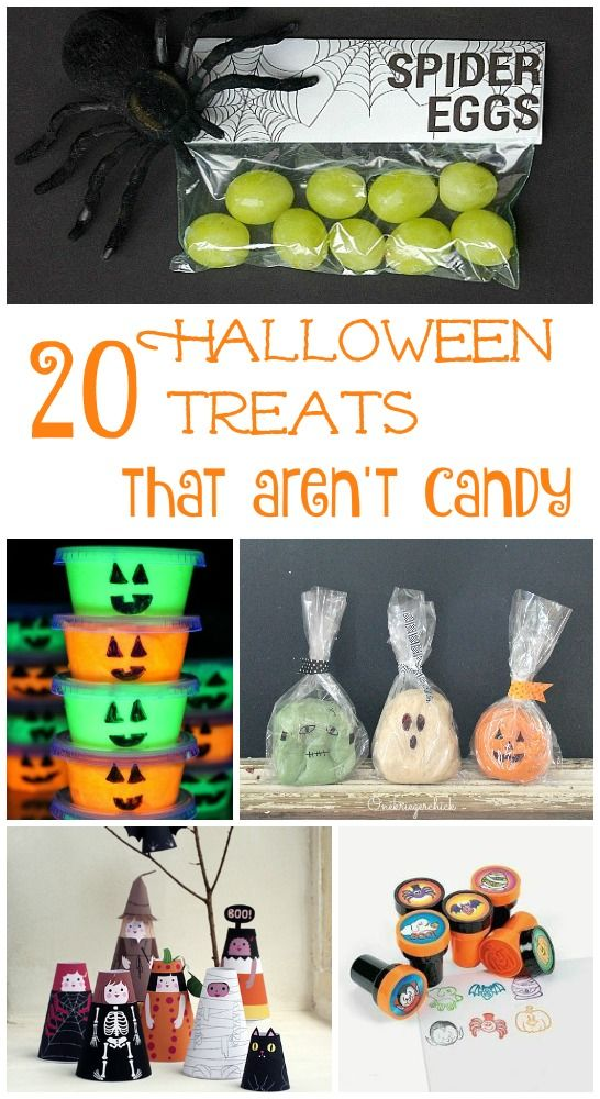 Great ideas for Halloween class party ideas or trick or treat non-candy things to hand out on Halloween!
