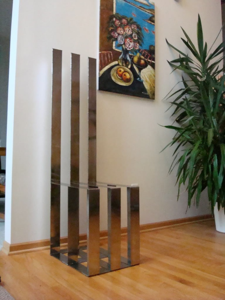 ZZIV Stainless Steel Tri Tower Functional Modern Art Chair Fancy Home Decor  Christmas. $5,800.00,