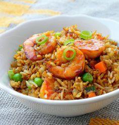 Riz sauté aux crevettes - Facile et délicieux - Sensualité et plaisir culinaire - Coup de coeur de http://laplisitol.com                                                                                                                                                                                 Plus