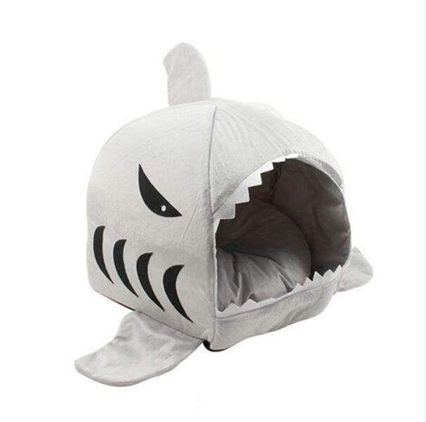 Warm Cozy Shark Cat & Dog House