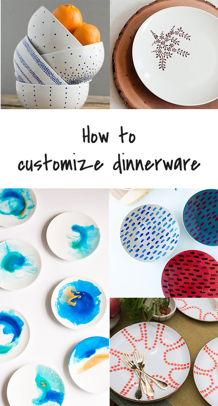 Ohoh Blog - diy and crafts: 5 DIY to Try # Customized dinnerware