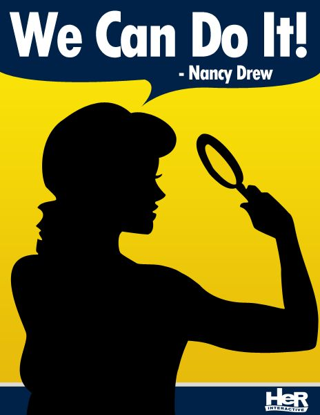 Nancy Drew / Rosie the Riveter poster meme. #NancyDrew #Meme #HerInteractive