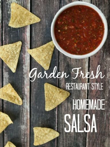 Restaurant Style Salsa with Fresh Tomatoes recipe.  Easy and healthy--this salsa is ready in minutes!