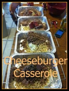 Freezer meals:  Cheeseburger Casserole