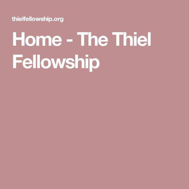 Home - The Thiel Fellowship