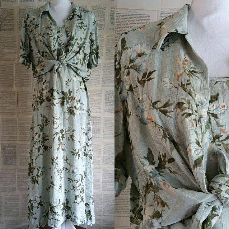 Vintage 1990s Floral Dress - Size 14-16 by MyVintageSundays on Etsy