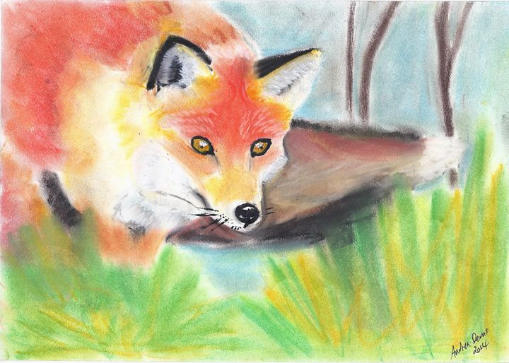 Fox Watching - Wildlife Series - Andrea Devos