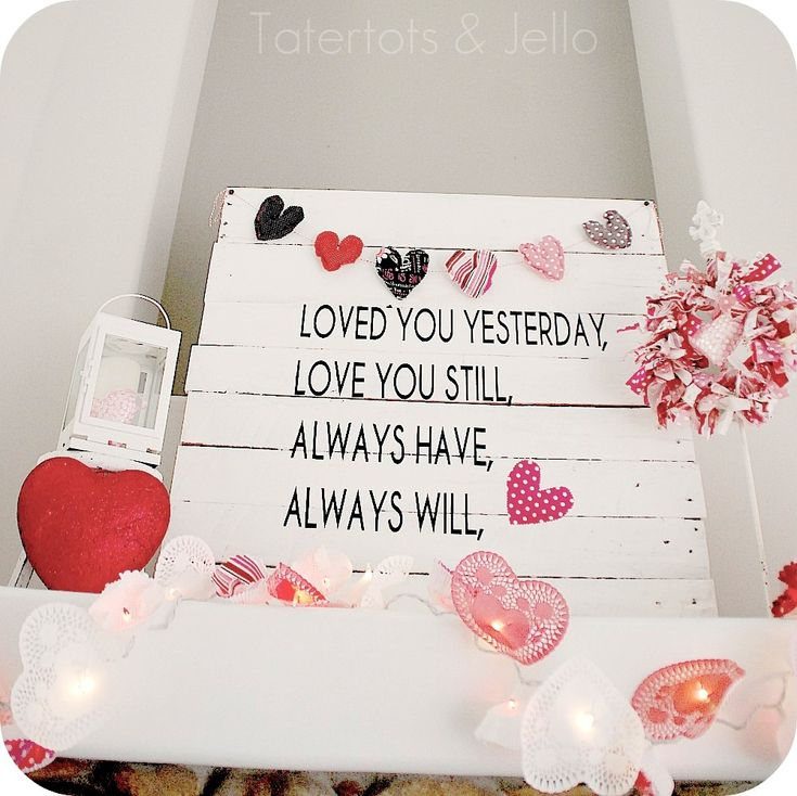 valentines day pallet sign.