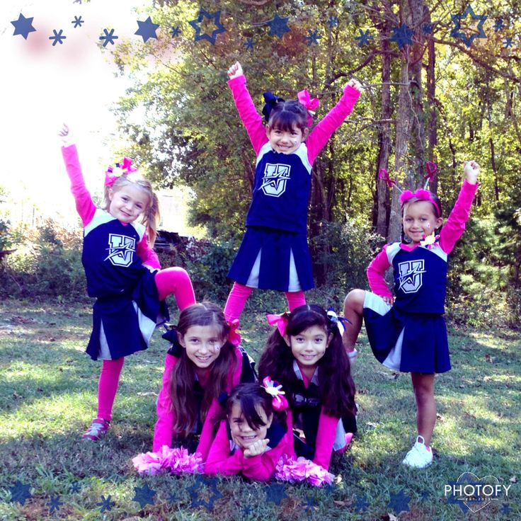 Beginner stunt for youth cheer, upward Cheerleading
