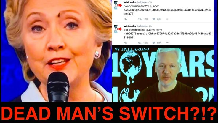 "Racist Hillary!! JULIAN ASSANGE ""DEAD MAN SWITCH"" Goes Off after EXPOSING Hil..."