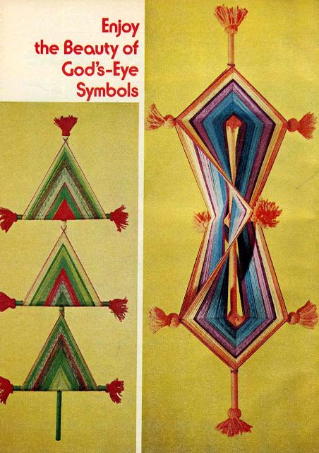 yourgrandmotherscrafts: An Iconic 1970s Craft: God's Eyes