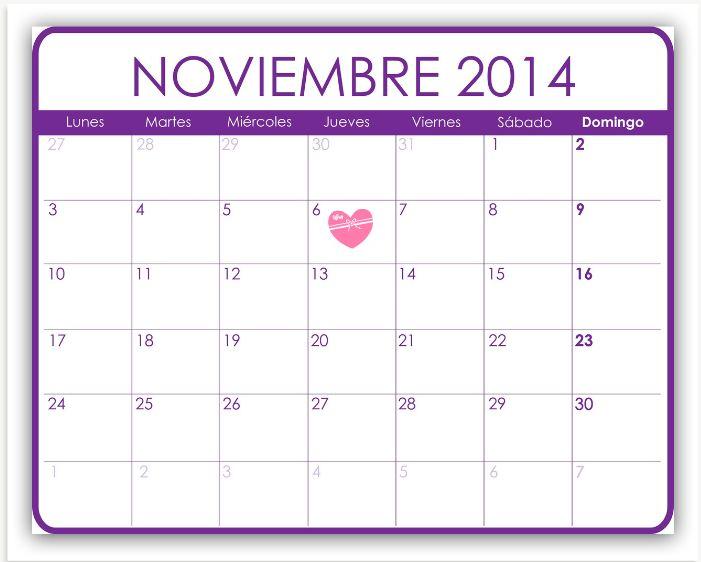 Sonrisas en cuarentena: Calendario de series: Noviembre 2014.