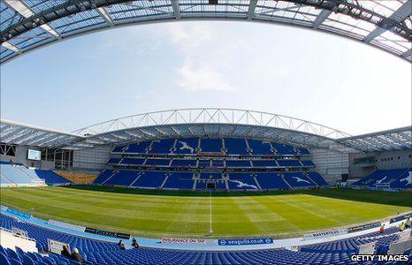 Brighton  Hove Albions new Amex Stadium in Falmer