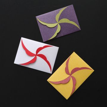 Decorative paper envelope for giving New Year's gifts マヤゴノミ/ココロづけ袋 TEFU-TEFU(3色入)