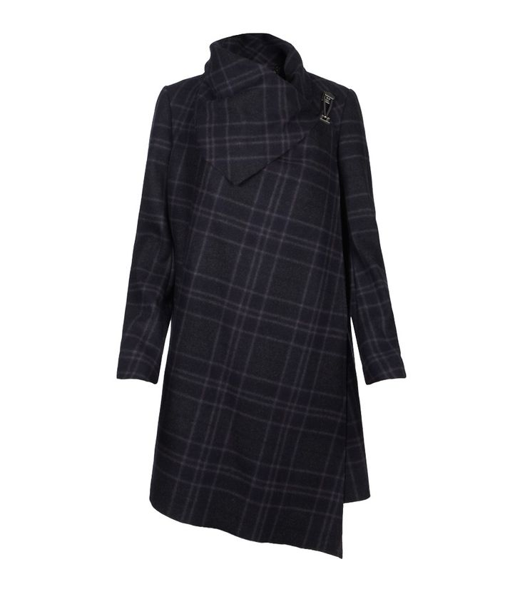 Plaid Monument Coat, Women, Coats, AllSaints Spitalfields
