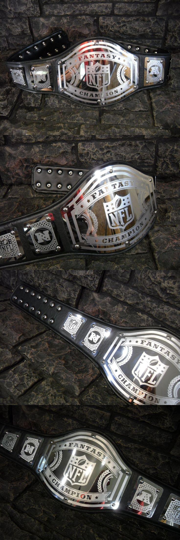 Wrestling 2902: New Fantasy Football Championship Belt Avenger Black Adult Metal Plates Nfl Wwf -> BUY IT NOW ONLY: $149.99 on eBay!