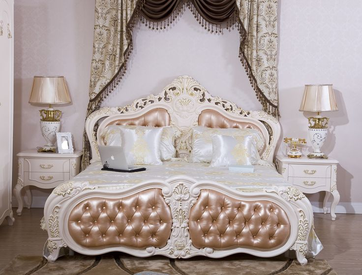 (No mattress) Rakuten rococo-luxury sculpture with bed: Roman Deal of imported furniture