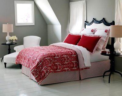 Grey Bedrooms, Headboards, Red Grey, Master Bedrooms, Colors Schemes, Beds Linens, Bedrooms Inspiration, Bedrooms Ideas, Gray Wall