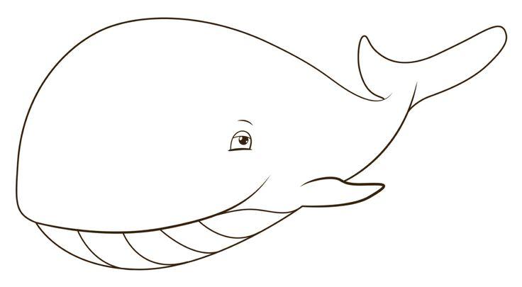 Walvis kleurplaat