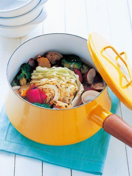 【ELLE a table】あぶり野菜のあさりスープレシピ|エル・オンライン