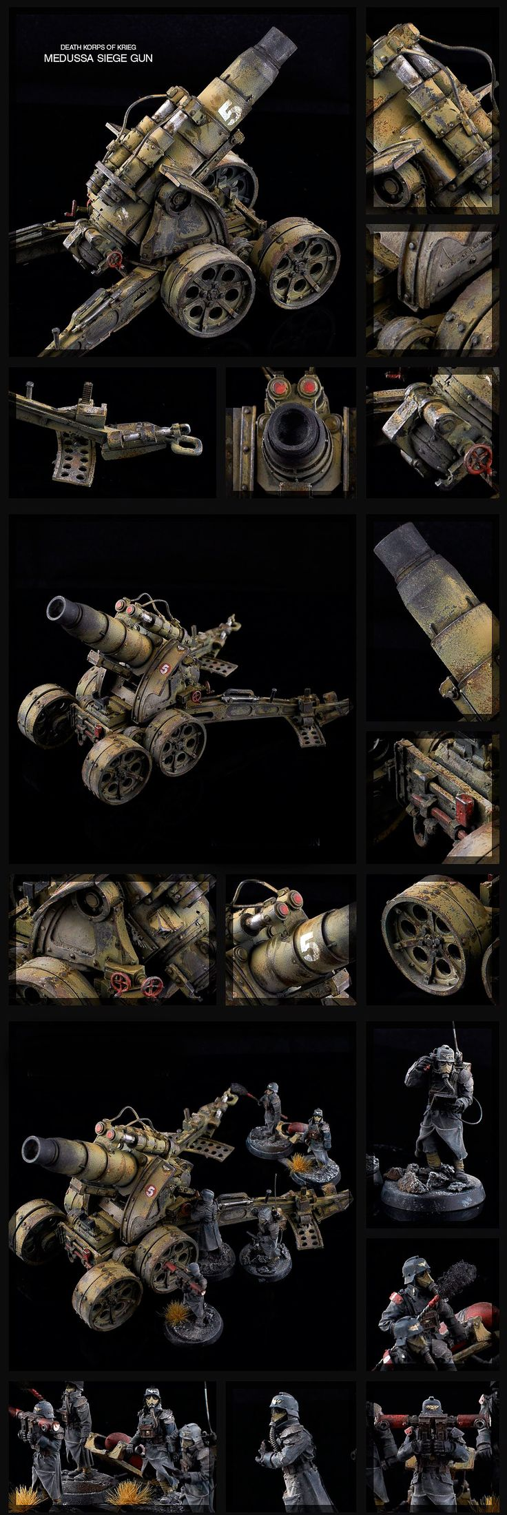CoolMiniOrNot - Death Korps of Krieg Medussa Siege Gun by de-Zigner