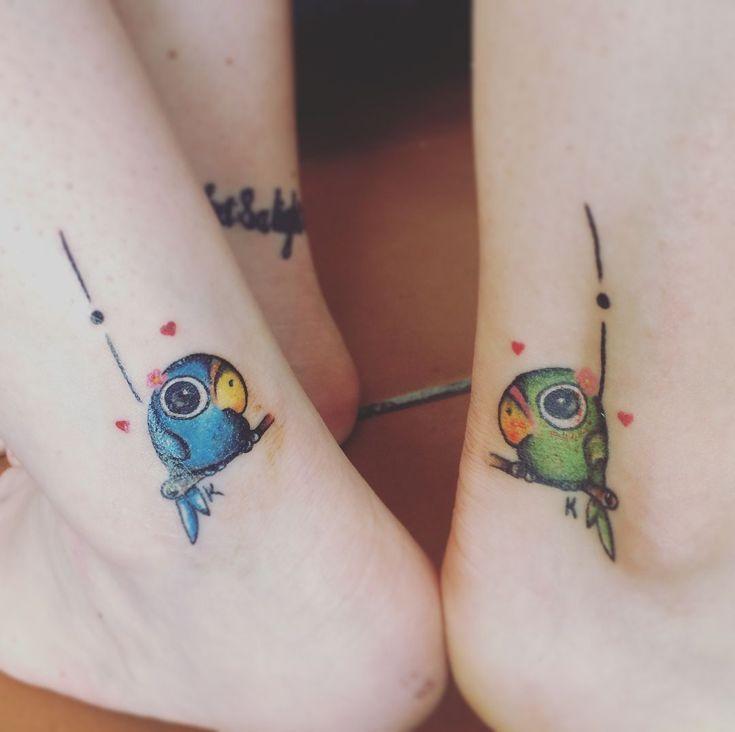birdies couple tattoo © Dark Star Tattoos (Knysna, South Africa)