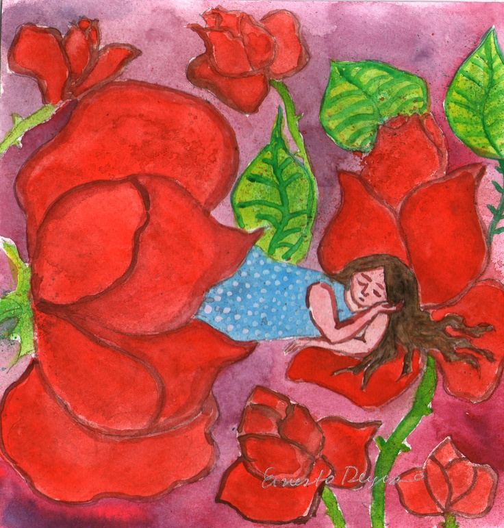 La niña de las flores