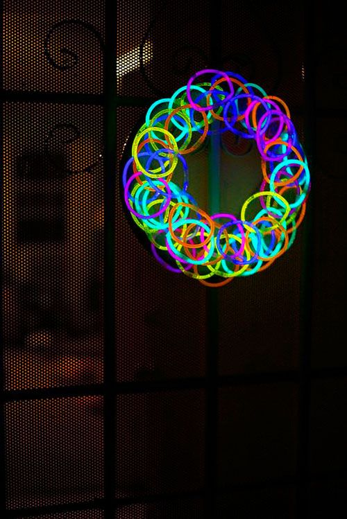 50+ Glow Stick Ideas - Glow Stick Wreath