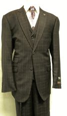 Stacy Adams Suits Purple Plaid Marty Vested 3 Piece 3957-009 - click to enlarge