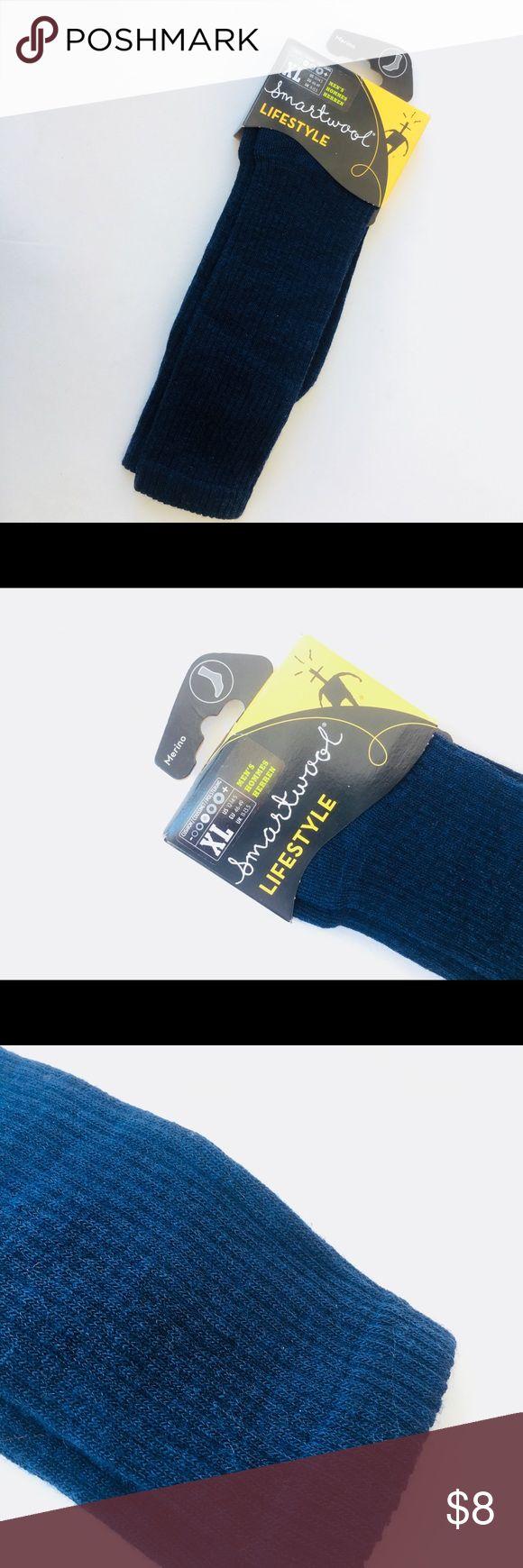 New! Men's SmartWool Merino Socks, XL New with Tags! Men's SmartWool Lifestyle Merino Navy Socks in XL (12-14.5) Navy, Ribbed Smartwool Underwear & Socks Casual Socks