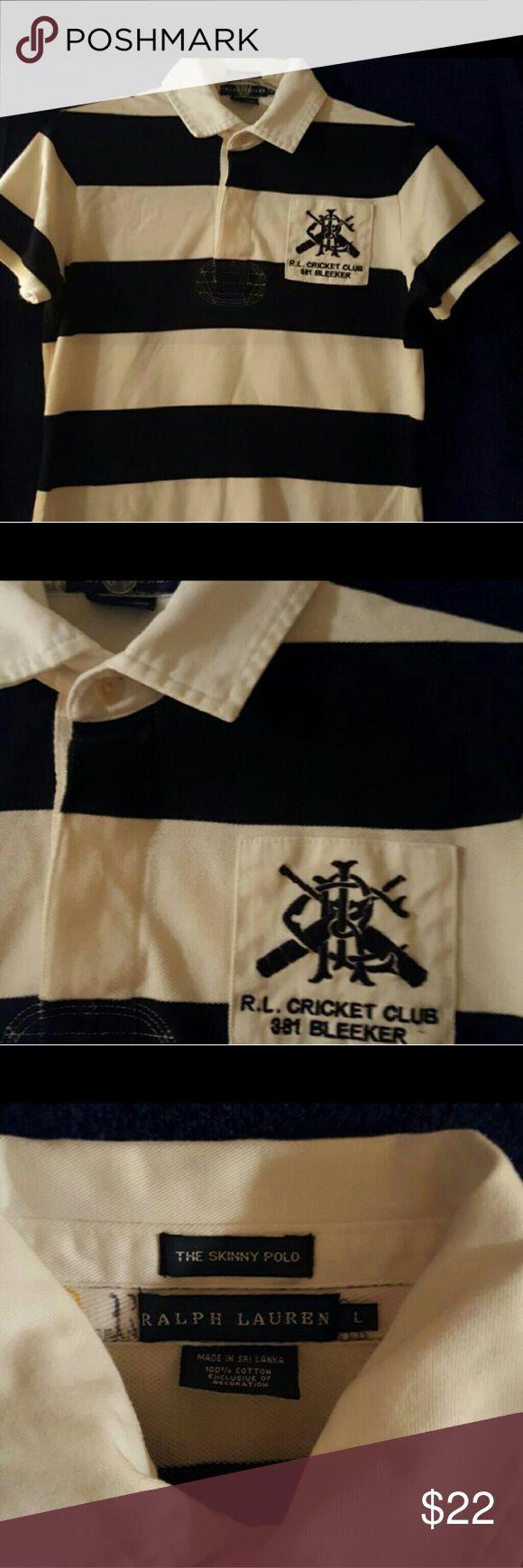 2 Ralph Lauren Polo Shirt Ralph Lauren Blue and white striped polo. Ralph Lauren Tops